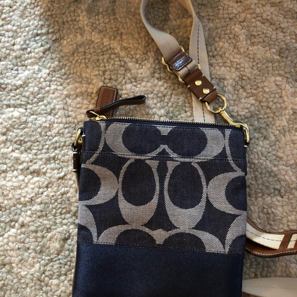 a0762b2dfd Coach Bags | Signature Denim Crossbody Handbag | Poshmark